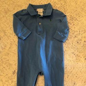 Ralph Lauren polo Sz 6m light blue one piece